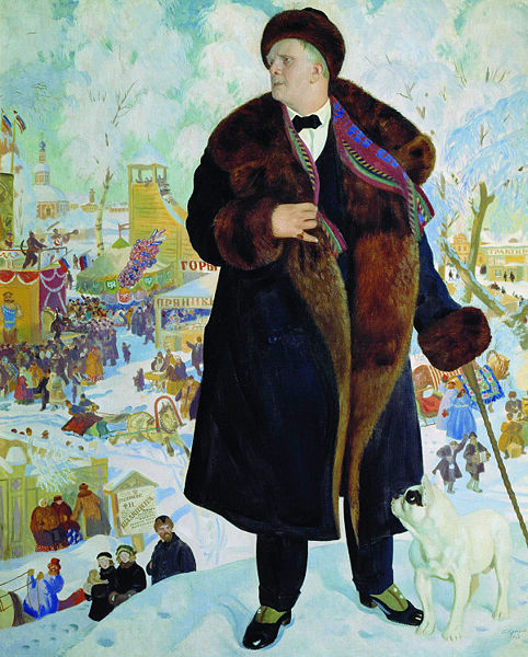 Boris Kustodiyev. Portrait of Fyodor Chaliapin. 1921. Oil on canvas. Theater Museum, St. Petersburg, Russia.